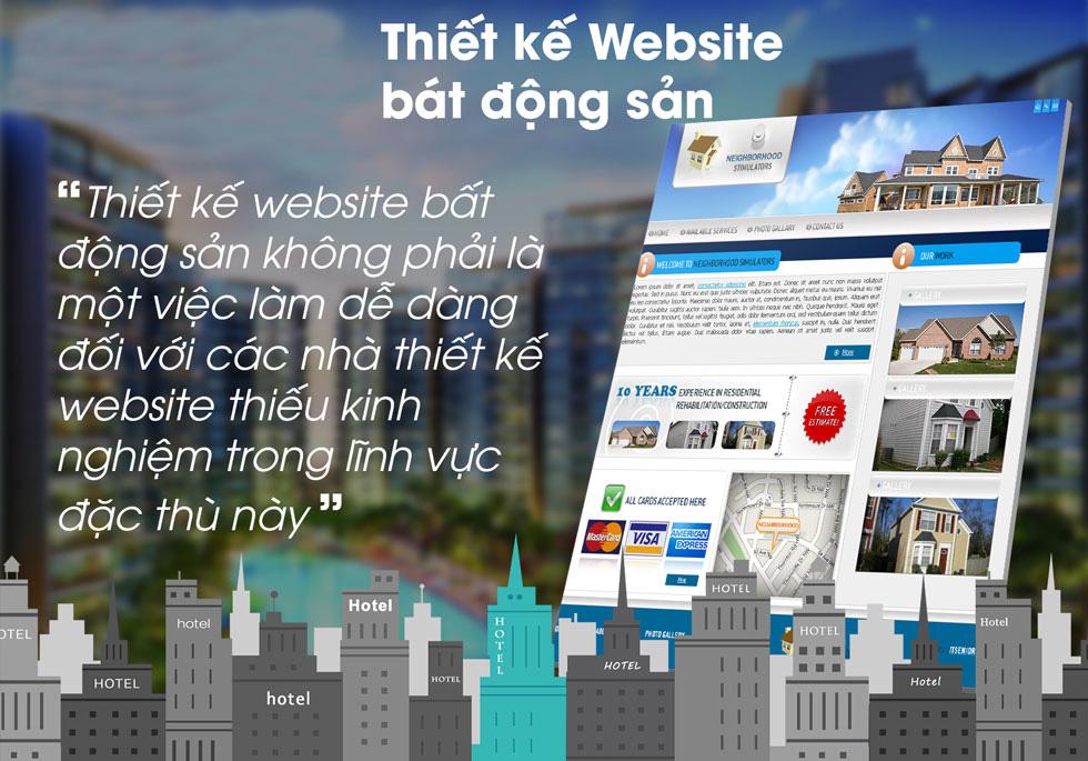 Thiết kế website bất động sản uy tín